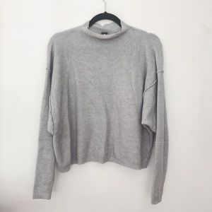 Free people slouchy mock neck sweater